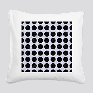CIR1 BK-WH MARBLE (R) Square Canvas Pillow