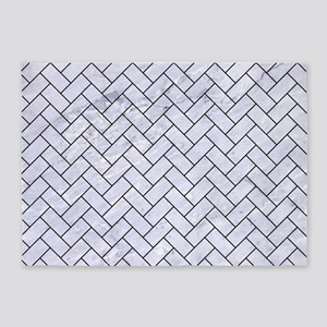 BRK2 BK-WH MARBLE (R) 5'x7'Area Rug