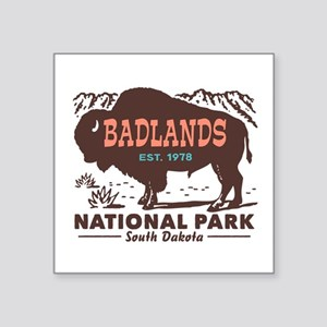 "Badlands National Park Square Sticker 3"" x 3"""
