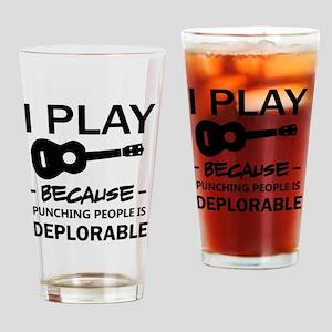 Ukulele designs Drinking Glass