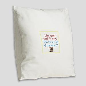 What mama said Burlap Throw Pillow