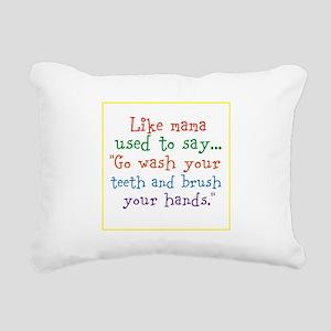 What mama said Rectangular Canvas Pillow