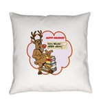 Best Little Book House Holiday Everyday Pillow