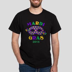 Mask Mardi Gras 2018 Dark T-Shirt