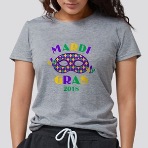 Mask Mardi Gras 2018 Womens Tri-blend T-Shirt