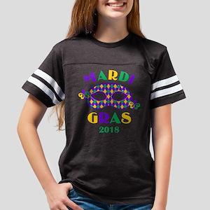 Mask Mardi Gras 2018 Youth Football Shirt