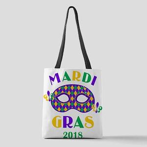 Mask Mardi Gras 2018 Polyester Tote Bag
