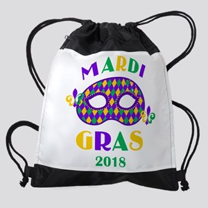 Mask Mardi Gras 2018 Drawstring Bag