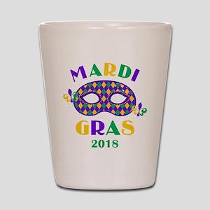Mask Mardi Gras 2018 Shot Glass