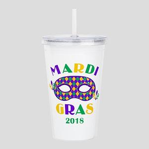 Mask Mardi Gras 2018 Acrylic Double-wall Tumbler
