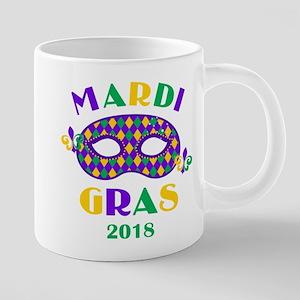Mask Mardi Gras 2018 20 oz Ceramic Mega Mug