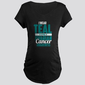 Ovarian Cancer Supporter Maternity T-Shirt