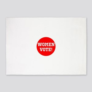 Women vote! 5'x7'Area Rug