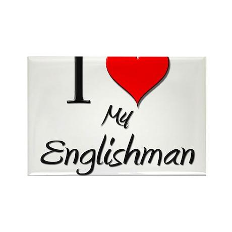 I Love My Englishman Rectangle Magnet