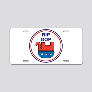 Rest in Peace, G O P, Aluminum License Plate