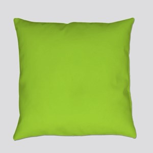 Lime green Neon Green Everyday Pillow