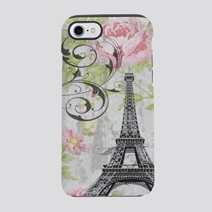 modern floral paris eiffel t iPhone 8/7 Tough Case