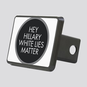 Hillary White Lies Rectangular Hitch Cover