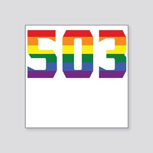Gay Pride 503 Portland Area Code Sticker