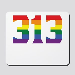 Gay Pride 313 Detroit Area Code Mousepad