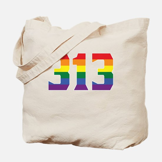 Gay Pride 313 Detroit Area Code Tote Bag