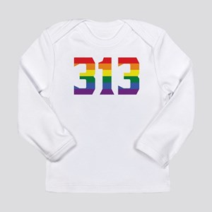 Gay Pride 313 Detroit Area Code Long Sleeve T-Shir