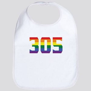 Gay Pride 305 Miami Area Code Bib