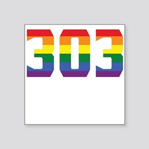 Gay Pride 303 Denver Area Code Sticker