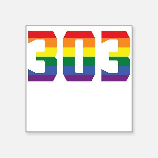 Gay Pride 303 Denver Area Code Sticker