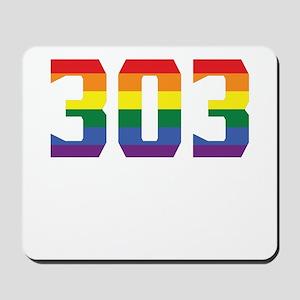 Gay Pride 303 Denver Area Code Mousepad