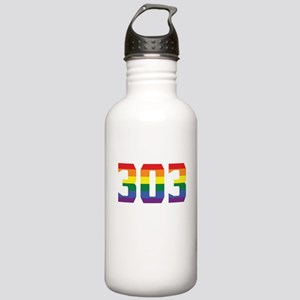 Gay Pride 303 Denver Area Code Water Bottle