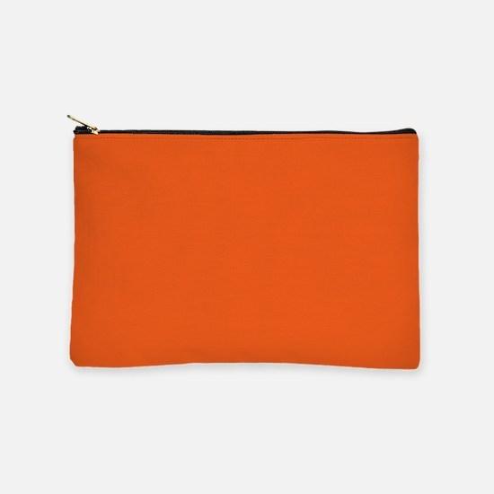 colorful bright mandarin orange Makeup Bag