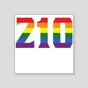 Gay Pride 210 San Antonio Area Code Sticker