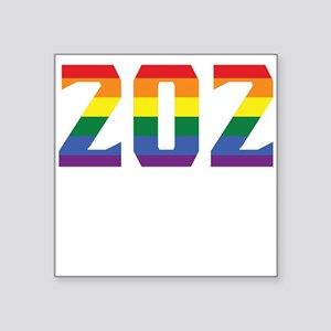 Gay Pride 202 Washington DC Area Code Sticker