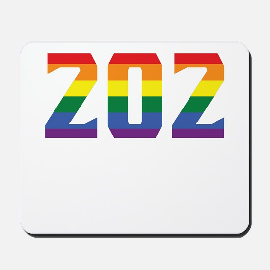Gay Pride 202 Washington DC Area Code Mousepad