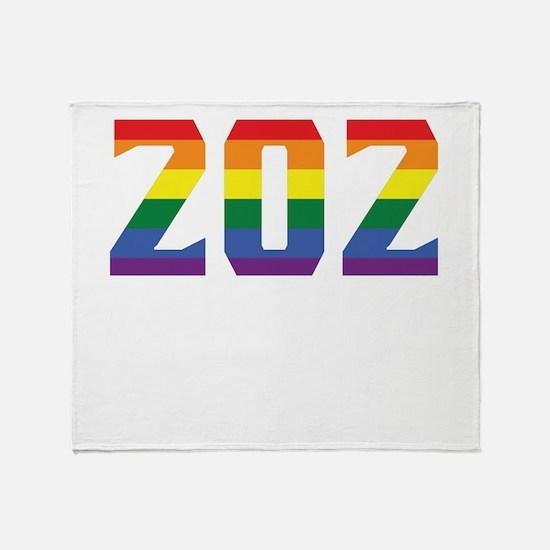 Gay Pride 202 Washington DC Area Code Throw Blanke