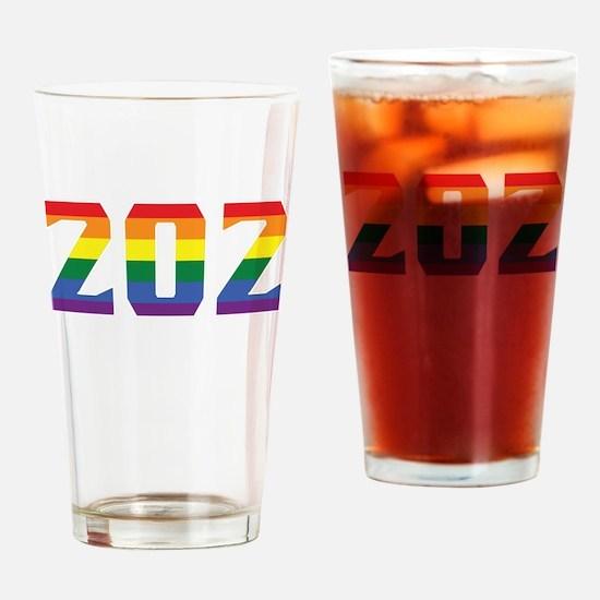 Gay Pride 202 Washington DC Area Code Drinking Gla