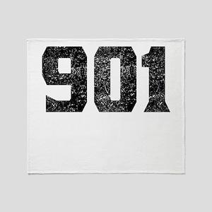 901 Memphis Area Code Throw Blanket