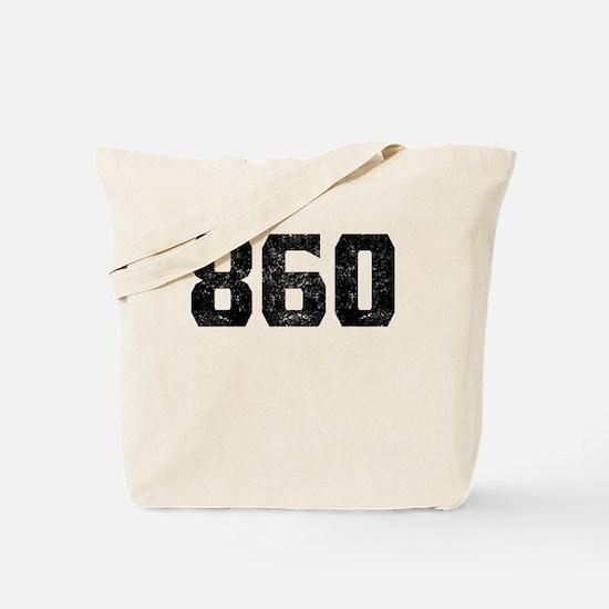 860 Hartford Area Code Tote Bag