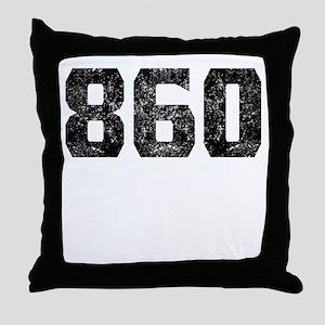 860 Hartford Area Code Throw Pillow