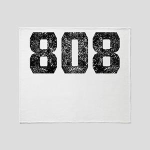 808 Honolulu Area Code Throw Blanket