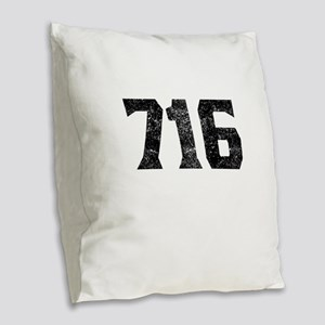 716 Buffalo Area Code Burlap Throw Pillow