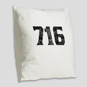 716 Buffalo Area Code Burlap Throw Pillow