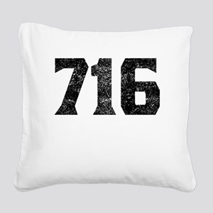716 Buffalo Area Code Square Canvas Pillow