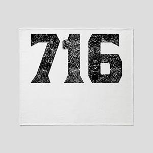 716 Buffalo Area Code Throw Blanket