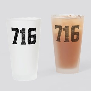 716 Buffalo Area Code Drinking Glass