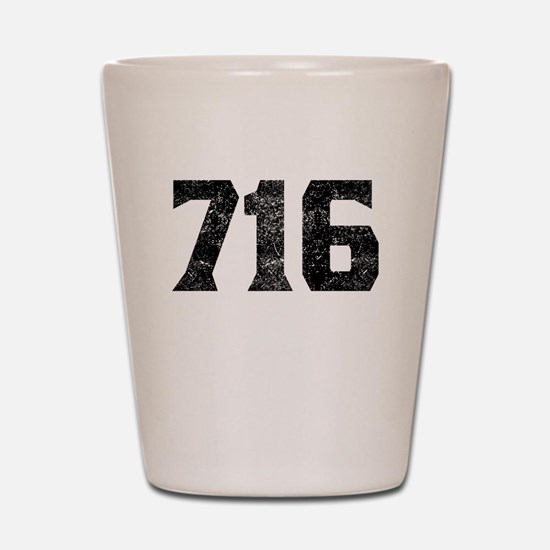 716 Buffalo Area Code Shot Glass