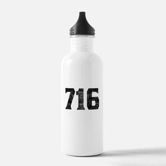 716 Buffalo Area Code Water Bottle