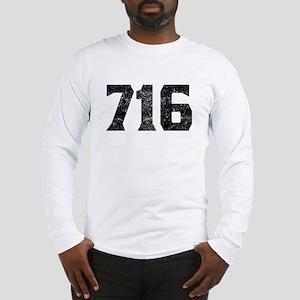 716 Buffalo Area Code Long Sleeve T-Shirt