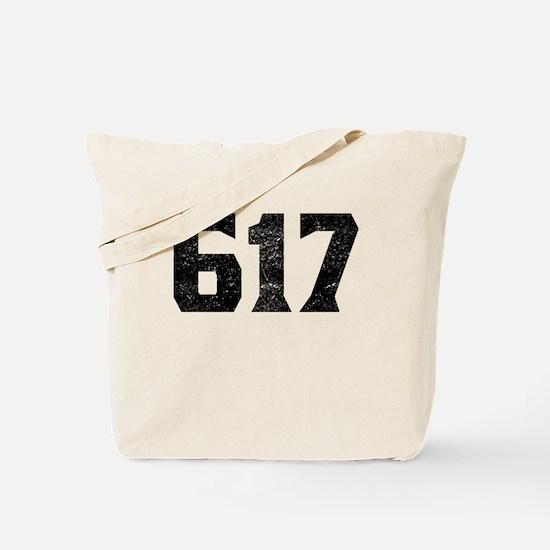 617 Boston Area Code Tote Bag